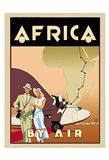 Africa by Air Art Print