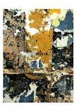 Black & Gold Layers Art Print