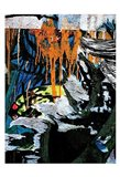 Blue Orange Layers 3 Art Print