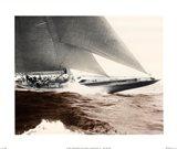 Mariner's Museum - Rainbow's Finish 1934 Vintage Maritime Art Print
