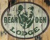 The Bear Den Lodge Art Print