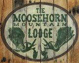 The Moosehorn Mountain Lodge Art Print