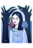 Doll in the Woods Art Print