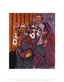 Purple Robe and Anemones, 1937 Art Print