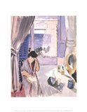 Woman Reading at a Dressing Table, late 1919 Art Print