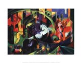 Abstract with Cattle Art Print