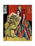 Two Young Women, the Yellow Dress and the Scottish Dress, 1941 Art Print
