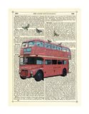 Butterfly London Bus Art Print