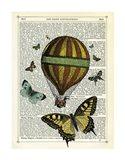 Butterflies & Balloon Art Print