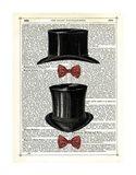 Top Hat & Bow Ties Art Print