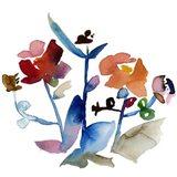 Nouveau Boheme No. 1 - Japanese Garden Series Art Print