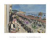 Festival of Flowers, Nice (Fete des fleurs), 1923 Art Print