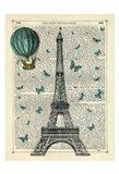 Eiffel Butterflies Art Print