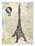 Eiffel Map Art Print