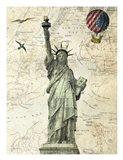 Liberty Balloon Art Print
