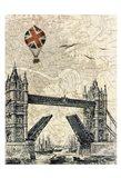 Tower Bridge Balloon Art Print