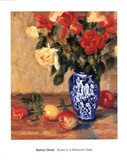 Roses in a Mexican Vase Art Print