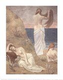 Young Women at the Sea Shore (petite version) Art Print