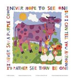 Purple Cow Art Print