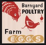 Barnyard Poultry-Farm Eggs Art Print