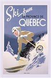 Ski Fun La Province de Quebec, 1948 Art Print