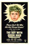 Boy with Green Hair Art Print