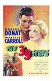 The 39 Steps Carroll and Donat Art Print