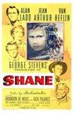 Shane George Stevens Alan Ladd Jean Arthur Van Heflin Art Print