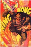 King Kong Smashing Art Print