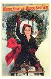 Shirley Temple Christmas Greeting Art Print