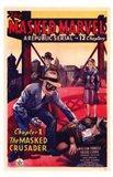 The Masked Marvel Art Print
