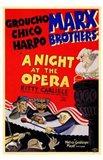 A Night At the Opera Groucho Chico Harpo Art Print