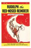 Rudolph the Red Nosed Reindeer Art Print