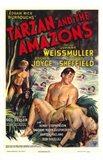 Tarzan and the Amazons, c.1945 Art Print