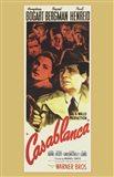 Casablanca Vertical Movie Cast Art Print