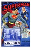 Superman Man of Steel Art Print