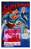 Superman Comes to Earth Art Print