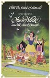 Snow White and the Seven Dwarfs with Apple Art Print
