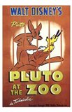 Pluto At the Zoo Art Print