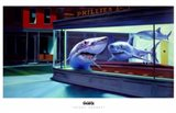 Night Sharks Art Print