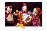 Clown Kids Playing Poker Art Print