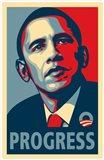 RARE Obama Campaign Poster - PROGRESS Art Print