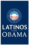Barack Obama - (Latinos for Obama) Campaign Poster Art Print