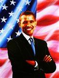 Barack Obama - painting Art Print
