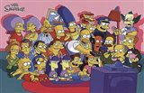The Simpsons Cast on Couch Art Print