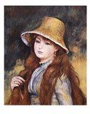 Girl and Golden Hat Art Print