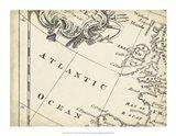Map of Europe Grid IV Art Print