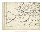 Map of Europe Grid VII Art Print