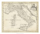Map of Italy Art Print