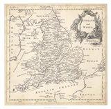 Map of England & Wales Art Print